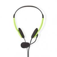 PC sluchátka | Na Uši | Stereo | 2x 3.5 mm | Sklopnou Mikrofon | 2.00 m | Zelená