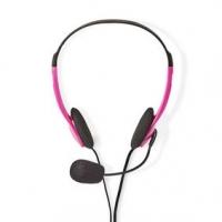 PC sluchátka | Na Uši | Stereo | 2x 3.5 mm | Sklopnou Mikrofon | 2.00 m | Růžová