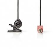 Kabelový Mikrofon | Připínací | 3.5 mm | Černá barva