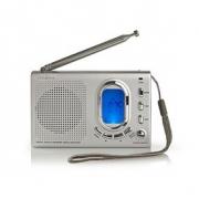 FM Rádio | 1,5W | Světový přijímač | Výstražná funkce | Šedá barva