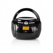 Přehrávač | 9 W | Bluetooth® | CD Přehrávač / FM Rádio / USB / Aux | Černá barva