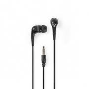 Kabelová Sluchátka | 1,2m Kulatý Kabel | Do Uší | Černá