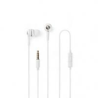 Kabelová Sluchátka | 3.5 mm | Délka kabelu: 1.20 m | Vestavěný mikrofon | Ovládání Hlasitosti | Bílá