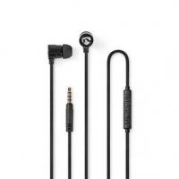 Kabelová Sluchátka | 3.5 mm | Délka kabelu: 1.20 m | Vestavěný mikrofon | Ovládání Hlasitosti | Černá / Stříbrná