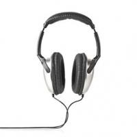 Kabelová Sluchátka Přes Uši | Délka kabelu: 6.00 m | Ovládání Hlasitosti | Černá / Stříbrná