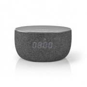 Bluetooth® Speaker with Wireless Charging | 30 W | Up to 6 hours Playtime | Clock | Grey