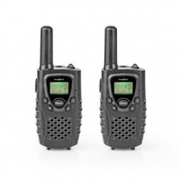 Walkie-Talkie Set | 2 sluchátka | Až 8 km | Frekvenční kanály: 8 | PTT / VOX | Až 2,5 hodiny | Výstup pro sluchátka | Černá