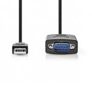 Převodník | USB A zástrčka na RS232 zástrčka | USB 2.0 | 0,9 m kabel