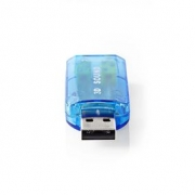 Zvuková Karta | 3D zvuk 5.1 | USB 2.0 | Dvojitý Konektor 3,5 mm