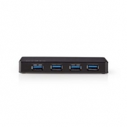 Rozbočovač USB | 4 porty | Napájení USB 3.0 | Samostatné Napájení | 5 Gbps