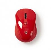 Bezdrátová myš | 1 000 dpi | 3 tlačítka | Červená barva