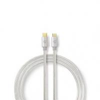 USB kabel | USB 2.0 | USB Typ-C ™ Zástrčka | USB Micro-B Zástrčka | 480 Mbps | Pozlacené | 3.00 m | Kulatý | Nylon / Opletený |