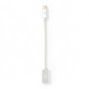 USB 3.1 Kabel | Typ-C Zástrčka - A Zásuvka | 0,15 m | Hliník