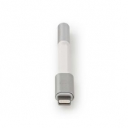 Apple Lightning Adaptér | Apple Lightning 8-pin Zástrčka - 3,5mm Zásuvka | 0,08 m | Hliník
