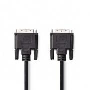 Kabel DVI | DVI-D 24+1-Pin Zástrčka - DVI-D 24+1-Pin Zástrčka | 10 m | Černá barva