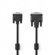 Kabel DVI | DVI-A 12+5-Pin Zástrčka - VGA Zástrčka | 2 m | Černá barva