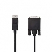 DisplayPort – DVI Kabel | DisplayPort Zástrčka - DVI-D 24+1-Pin Zástrčka | 1 m | Černá barva