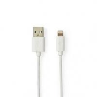 USB kabel | USB 2.0 | Apple Lightning 8pinový | USB-A Zástrčka | 480 Mbps | Pozlacené | 2.00 m | Kulatý | PVC | Bílá / Šedá | Bo