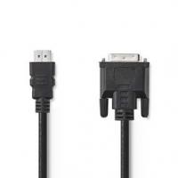 HDMI™ Kabel | Konektor HDMI ™ | DVI-D 24+1 Zástrčka | 1080p | Poniklované | 10.0 m | Přímý | PVC | Černá | Plastový Sáček
