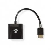 Kabel HDMI – VGA | Konektor HDMI™ - VGA Zásuvka + 3,5mm výstup | 0,2 m | Antracit