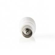 IEC (Koaxiální) Konektor | Zástrčka + Zásuvka - Rovný | 2 kusů | Bílá barva