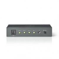 Digitální Audio Přepínač   4cestný   Vstupní konektor: 4x TosLink   Výstupní konektor: 1x TosLink   Dálkové Ovládání / Manuální