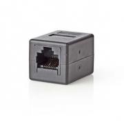 Síťový Adaptér Cat 5 | RJ45 Zásuvka - RJ45 Zásuvka | Černá barva