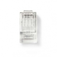 RJ45 konektor | Zástrčka | Drát UTP CAT6 | Přímý | Pozlacené | 10 ks | PVC | Transparentní | Plastový Sáček