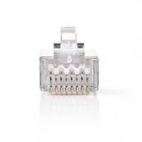 RJ45 konektor | Zástrčka | Drát STP CAT6 | Přímý | Pozlacené | 10 ks | PVC | Transparentní | Obálka