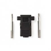 Čepička konektoru D-Sub | Vhodné pro D-Sub 9pinový | Černá barva