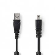 Datový kabel k Fotoaparátu | USB A Zástrčka - UC-E6 8-pin Zástrčka | 2 m | Černá barva