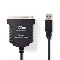 paralelní kabel | USB-A Zástrčka | Centronics 36-Pin Zástrčka | Poniklované | PVC | Plastový Sáček