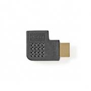Adaptér HDMI | HDMI Konektor - HDMI Zásuvka | Úhlová Levá | Černá barva