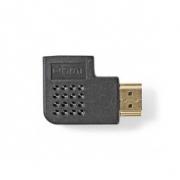 Adaptér HDMI | HDMI Konektor - HDMI Zásuvka | Úhlová Pravá | Černá barva