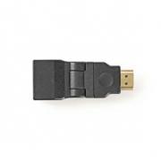 Adaptér HDMI | HDMI Konektor - HDMI Zásuvka | Otočná | Černá barva