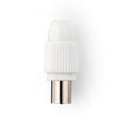 IEC (Koaxiální) Konektor | Samec - 2 kusů | Bílá barva