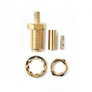 Konektor SMA | Samice - Pro Kabely RG174 | 2 kusů | Zlato