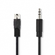 Audiokabel DIN | DIN 5-pin Zástrčka - 3,5mm Zástrčka | 1 m | Černá barva