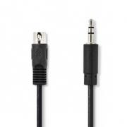 Audiokabel DIN | DIN 5-pin Zástrčka - 3,5mm Zástrčka | 2 m | Černá barva