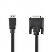 Kabel HDMI – DVI | HDMI Konektor - DVI-D 24+1-Pin Zástrčka | 3 m | Černá barva