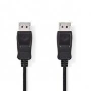 DisplayPort 1.2 kabel | DisplayPort Zástrčka - DisplayPort Zástrčka | 3 m | Černá barva