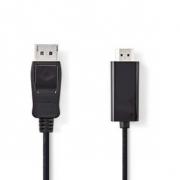 DisplayPort – HDMI Kabel | DisplayPort Zástrčka - HDMI Konektor | 2 m | Černá barva