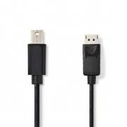 Kabel Mini DisplayPort | Mini DisplayPort Zástrčka - DisplayPort Zástrčka | 2 m | Černá barva