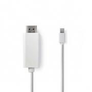 Mini DisplayPort – HDMI Kabel | Mini DisplayPort Zástrčka - HDMI Konektor | 2 m | Bílá barva