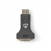 1x DisplayPort – DVI Adaptér | DisplayPort Zástrčka - DVI-I 24+5-pin Zásuvka | Černá barva