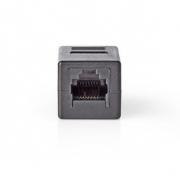 Síťový Adaptér Cat 5 | RJ45 (8P8C) Zásuvka - RJ45 (8P8C) Zásuvka | Černá barva