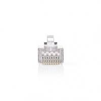 RJ45 konektor | Zástrčka | Drát STP CAT5 | Přímý | Pozlacené | 10 ks | PVC | Transparentní | Box