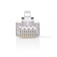 RJ45 konektor | Zástrčka | Drát STP CAT6 | Přímý | Pozlacené | 10 ks | PVC | Transparentní | Blistr