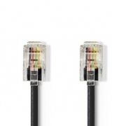 Telekomunikační kabel | RJ10 Zástrčka – RJ10 Zástrčka | 5 m | Černá barva