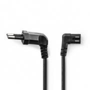 Napájecí Kabel | Euro Úhlová Zástrčka – IEC-320-C7 Levá/Pravá | 2 m | Černá barva